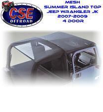 Black Island Mesh Top  Jeep Wrangler JK 2007-2009 4 Door 13579.03 Rugged Ridge