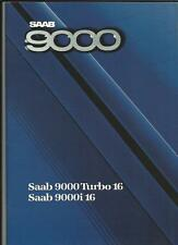 SAAB 9000 TURBO 16  AND 9000i 16  SALES BROCHURE  1987