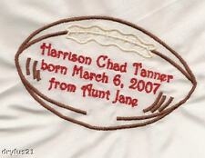 Embroidered Quilt Label Baby Boy or Girl Custom