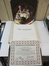 Knowles Norman Rockwell Plate The Gourmet Ninth Plate In Series