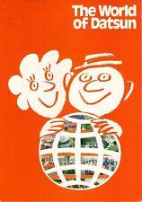 'World Of Datsun' Mid 1970s UK Market Foldout Sales Brochure Nissan
