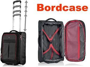 Handgepäck Hand Koffer Bordcase Bordkoffer Trolley 30-35 l black 54/36/20-24 cm