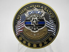Law Enforcement Appreciation Police Thank You - Thin Blue Line Challenge Coin