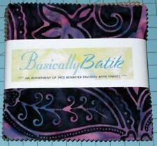 "Benartex - Basically Batik an Assortment of (40) 5"" Precut Fabric Squares"