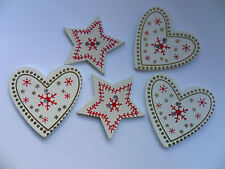 20 pcs   Snowflake Star / Heart  Scrapbooking / Sewing Buttons  35mm