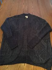 Forever 21 Purple Cardigan Cable Knit Sweater Size M