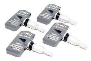 Set of 4 2004-2019 TPMS Tire Pressure Sensors GMC Aluminum Valve Aftermarket