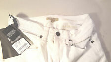 "Burberry Brit womens JEANS 26x37 ""Chelsea) Bootcut White stretch NWT"