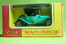 Maqueta de coche-Matchbox-models of Yesteryear y-14 - 1911 Maxwell roadster-en su embalaje original