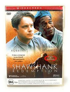 The Shawshank Redemption (DVD, 1994) Morgan Freeman Region 4 Free Postage