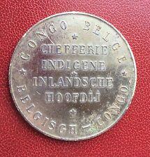 Congo Belge -Très Rare Médaille CHEFFERIE INDIGENE - vers 1910 - Variante