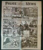 POLICE NEWS 1888 JACK THE RIPPER , (8 PAGES)  NEWSPAPER FORMED SENSATIONAL PAGES