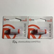 Lot of (2) RADIO SHACK PX28A 6V 105MAH Alkaline Battery 2302438 FREE Shipping