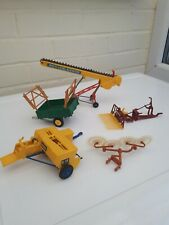 BRITAINS FARM TOYS NICE JOB LOT OF VINTAGE TRACTOR IMPLEMENTS FOR BALING
