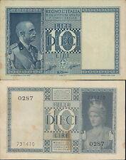 REGNO D'ITALIA,10 LIRE IMPERIALE DEC.1938