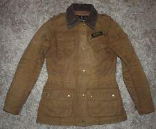 Barbour International HAILWOOD Waxed Jacket in Sandstone - UK 10 [2922]