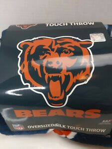 "Chicago Bears Oversized Silk Touch Blanket 55"" x 70"" Throw Blanket NFL"