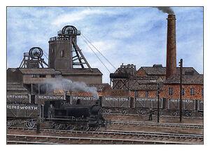 Hemsworth Colliery 1876 - 1967 - Ltd Ed Print - Pit Pics - Coal Mining