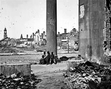 New 8x10 Civil War Photo: Destruction on Meeting Street in Charleston, 1865