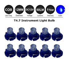 10 x T4.7 Blue COB LED SMD Dashboard Meter Light Bulb 12V for Van Internal 60LM