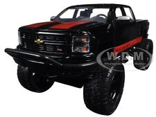 2014 CHEVROLET SILVERADO PICKUP TRUCK BLACK OFF ROAD 1/24 DIECAST BY JADA 97476