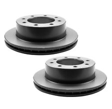 Pair Set of 2 Rear Disc Rotors Vented 330mm 8 Lugs Coated Brembo for Chevy GMC