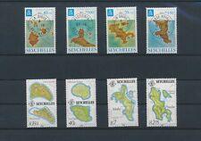 LN89438 Seychelles maps cartography fine lot MNH