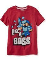 NWT OLD NAVY Vintage Pac-Man Arcade Game Tees T-Shirt Shirt Boys M L 8 10 12