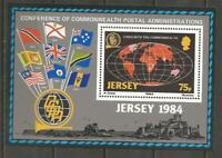 JERSEY - 1984 Commonwealth Day  - MINT UNHINGED MINIATURE SHEET.
