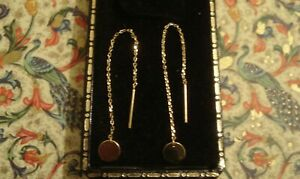 Very Pretty & Finely Crafted 14CT yellow Gold Threader Design Dangling Earrings