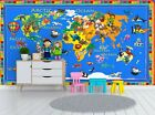 World Animals Map Wall Mural Photo Wallpaper GIANT WALL DECOR Free Glue
