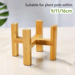 Wooden Plant Pot Holder Stand Flower Display Tools Shelf Home Garden Decor 6E35