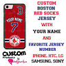 CUSTOM BOSTON RED SOX PHONE CASE COVER WITH NAME & No. FOR iPHONE SAMSUNG LG etc