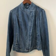Liverpool Denim Jacket Size Small Long Sleeves NWT! 100% Cotton B4