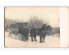 ST2166: RAWLEIGH 'S REMEDIES  ADVT HORSES & WAGON C1910's AZO 4 tri RPPC/poscard