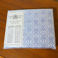 "NEW Tommy Hilfige Hunter House Pole Top Drapery Panels, Curtains 84"", Blue White"