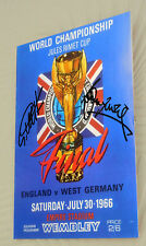 1966 WORLD CUP  FOOTBALL GEOFF HURST BOBBY MOORE FRAMED CLIP A4 SIGNED WORLD CUP