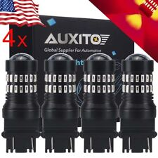 4x AUXITO 3157 3047 3156 48smd Red LED Stop brake Tail Light Bulb for GMC Chevy