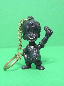 Porte-clés publicitaire ancien Chocoreve figurine mascotte 3D chocolat