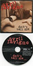 "AVRIL LAVIGNE ""DON'T TELL ME"" RARE PROMOTIONAL CD SINGLE"