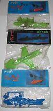 """3 x Space Battleship Yamato 3"""" Keshi Gomu Sealed Bag Japanese Vintage Starblazer"""