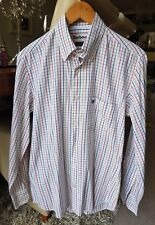 ** Barbour Hombre Talla S inteligente Regular Fit de Superdry de algodón de cuadros blancos ** L @ @ K **