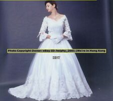 STOCK Louvas Princess* Sexy Lace V Neck Wedding Gown Dress Plus Size 20 24,26 3e