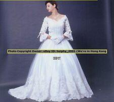 Sub$20 Louvas Cinderella* Sexy* Lace Vintage Wedding Dress Plus Size 30 32,34 3e