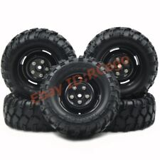 5pc 1.9 Rock Crawler Tires Tyre 90mm w/ Hex 12mm Wheels Rims For 1/10 RC Crawler