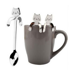 Lovely Stainless Steel Cat Tea Coffee Spoon Ice Cream Cutlery Tableware