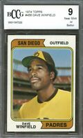 1974 Topps  #456 Dave Winfield Padres Rookie Card BGS BCCG 9 Graded