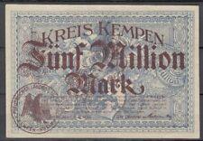 Kempen  -  Kreis  -  5 Millionen Mark  -  Buchst. B