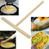Crepe Maker Pancake Batter Wooden Spreader Stick Hotchen Tool DIY Hot T8B8