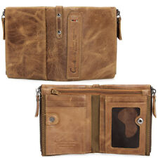 High Capacity Men Genuine Leather Cowhide Wallet Bifold Coin Purse Card Holder T